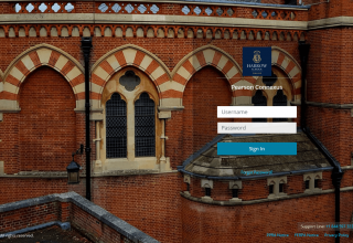 Login screen_harrowschool